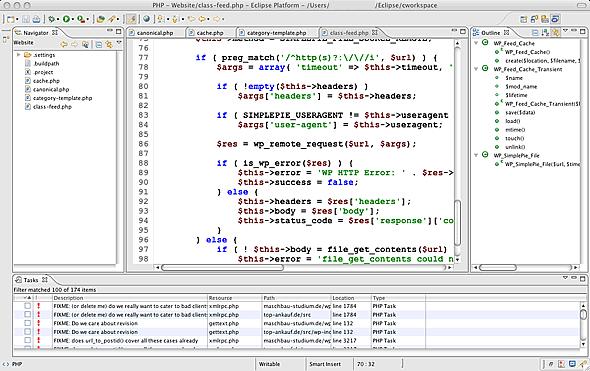 Eclipse PDT - Entwicklungsumgebung zur Webprogrammierung